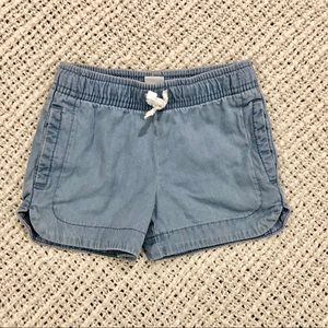 5/$25 Carter's girls chambray shorts 2T